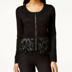 Grace Elements Black Fringed Cardigan